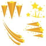 从星的烟花 从星的爆炸 流星 皇族释放例证
