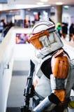 从星际大战Cosplay的突击队员 免版税库存照片