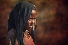 从普斯赫卡尔的印地安部族女孩 库存图片