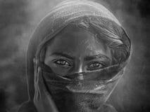 从普斯赫卡尔的印地安部族女孩 免版税库存图片