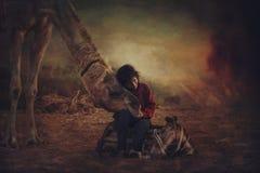 从普斯赫卡尔MELA的骆驼男孩 免版税库存图片