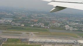 从曼谷机场的离开 股票视频