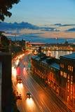 从有利位置的都市风景在斯德哥尔摩 免版税库存图片