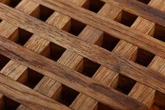 从木板条的格栅 抽象背景 库存照片