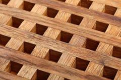 从木板条的格栅 抽象背景 图库摄影