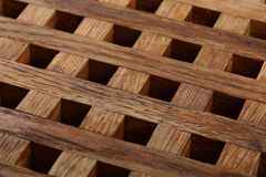 从木板条的格栅 抽象背景 免版税库存图片