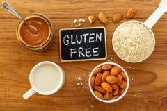 从杏仁的面筋免费食物 免版税库存照片