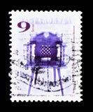 从杜瑙保陶伊的18世纪椅子,古家具serie, circ 免版税库存照片