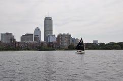 从查尔斯河的波士顿地平线Massachusettes国家的美国 库存照片
