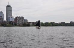 从查尔斯河的波士顿地平线Massachusettes国家的美国 库存图片