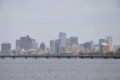 从查尔斯河的波士顿地平线Massachusettes国家的美国 免版税库存照片