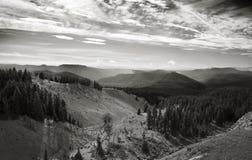 从树带界线小屋,俄勒冈的看法 库存图片