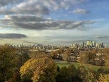 从格林威治公园的伦敦市 免版税库存照片