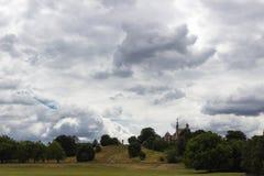 从格林威治公园的皇家观测所 免版税库存照片
