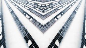 从框架的创造性的万花筒与寄生虫 在雪的冬天太阳电池板 库存例证