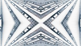 从框架的创造性的万花筒与寄生虫 在雪的冬天太阳电池板 股票录像