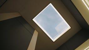 从框架的天窗在天花板 免版税库存照片