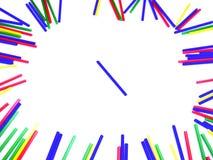 从棒棒糖棍子的五颜六色的框架 免版税图库摄影