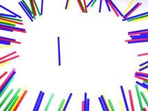 从棒棒糖棍子的五颜六色的框架 库存图片