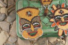 从植物种子的狂欢节面具 库存照片