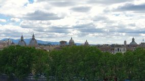 从概略的看法的罗马 罗马看法从圣天使城堡的  影视素材
