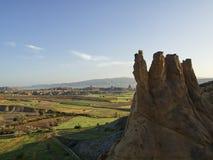 从气球的风景cappadocia 免版税库存照片
