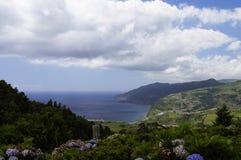 从水色Retorta,圣地米格尔的全景 库存照片