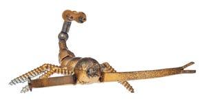 从汽车和摩托车的手工制造蝎子分开,负担元素 免版税库存图片