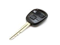 从汽车的关键字与按钮 免版税库存照片