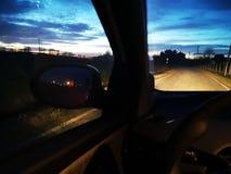 从汽车的黎明 图库摄影
