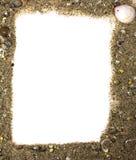 从沙子的框架 库存照片
