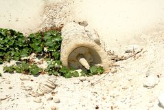 从沙子的雕塑 免版税图库摄影