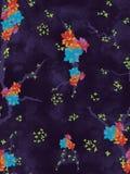 从沥青出来的花崩裂了路黑暗的纹理 无缝的模式 五颜六色的花 库存例证