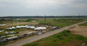 从河的顶端看法有游艇停车处的,kterov 影视素材