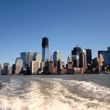 从河看见的纽约 库存图片