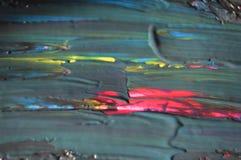 从油画的艺术抽象五颜六色的背景墙纸 免版税库存照片