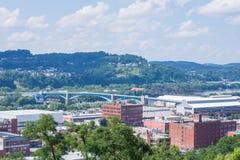 从波兰小山的地平线在北匹兹堡,宾夕法尼亚 免版税库存照片