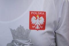 从波兰的足球迷COPENHAAGEN的 免版税库存照片