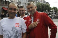 从波兰的足球迷COPENHAAGEN的 免版税图库摄影