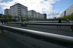 从波茨坦广场,波茨坦广场的印象在柏林从2017年4月11日,德国 图库摄影