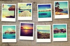 从波里尼西亚的明信片 免版税库存图片