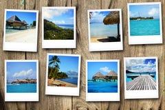 从波里尼西亚的明信片 免版税库存照片
