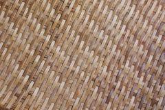 从泰国打谷的篮子的竹纹理背景 免版税库存照片