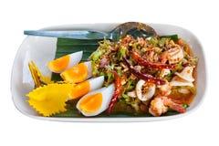 从泰国食物购买权薯类的午餐 免版税库存图片