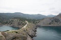 从海角Kaptchic的神色对海岸 库存照片