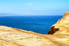 从海角Kiwanda的太平洋视图 免版税库存照片