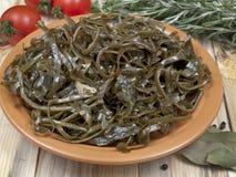 从海运圆白菜的沙拉 库存照片