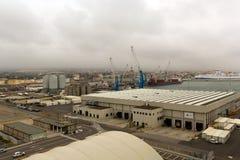 从海运的巡航水手的Civitavecchia端口 库存图片