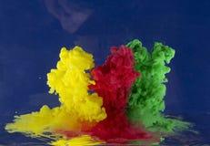 从液体的抽象 免版税图库摄影