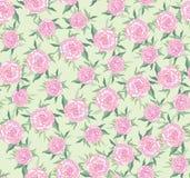 从淡紫色玫瑰的无缝的背景 图库摄影